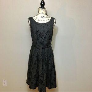 JACQUI.E jacquard fit & flare sleeveless dress